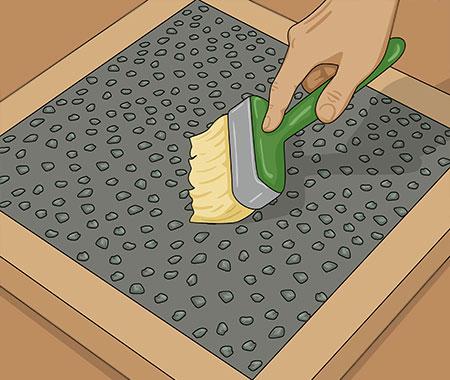 Tvätta fram ytan med plafondpensel