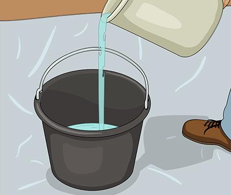 Vatten för grovbetong