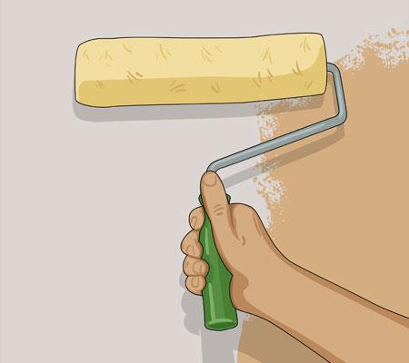 Om du ska måla om en mörk vägg i en ljus kulör, bör du först grundmåla väggen utan täckningskrav