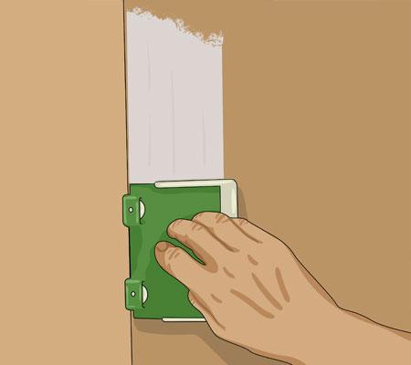 En spardyna går också bra att använda när du målar runt kanterna