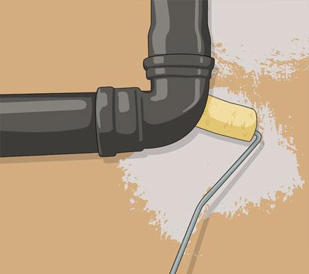 När du ska måla bakom t ex element och rör har du nytta av en elementroller