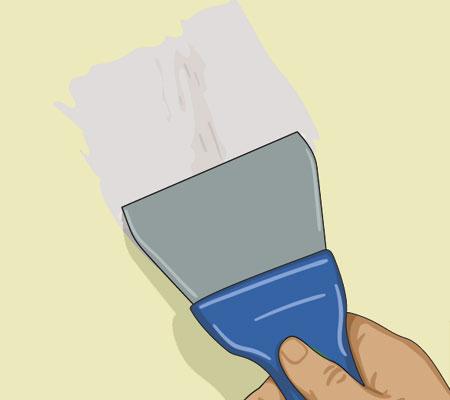 Spackla igen hål och sprickor efter spikar och skruvar