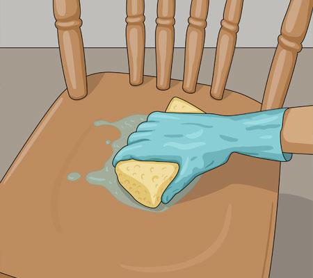 Tvätta bort färgborttagningsmedel