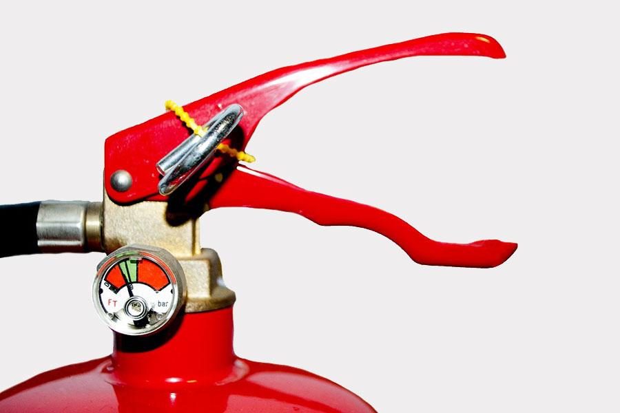 Brandsäkra hemmet med brandsläckare