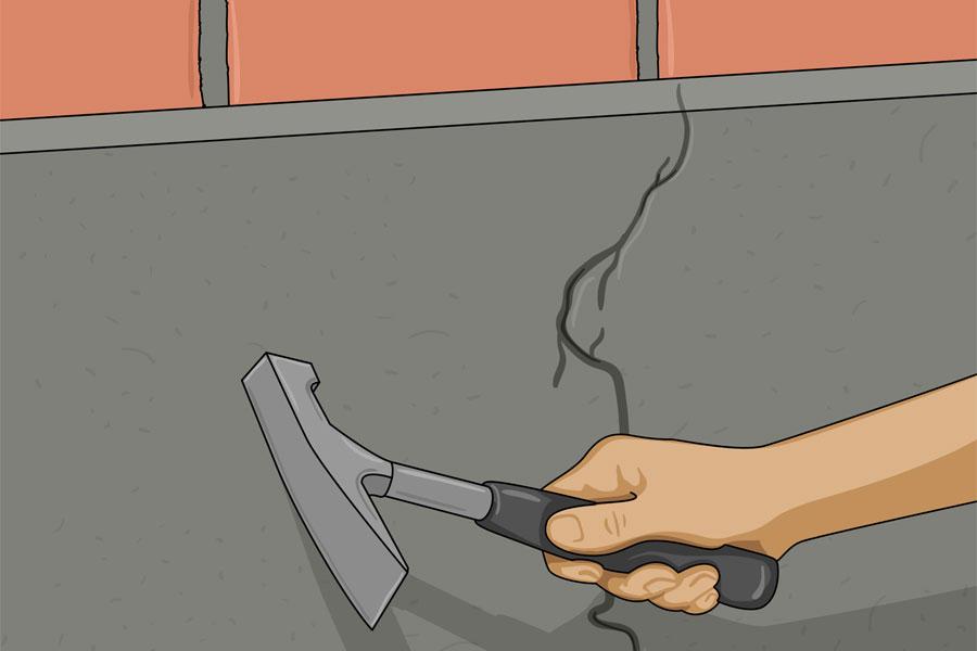 Laga sprickor i husgrund steg 1