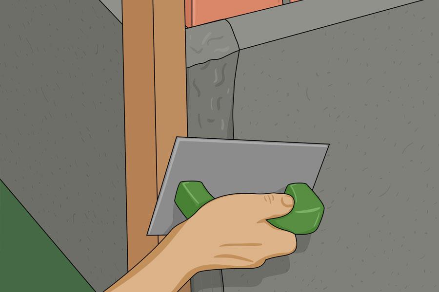 Laga sprickor i husgrund steg 13