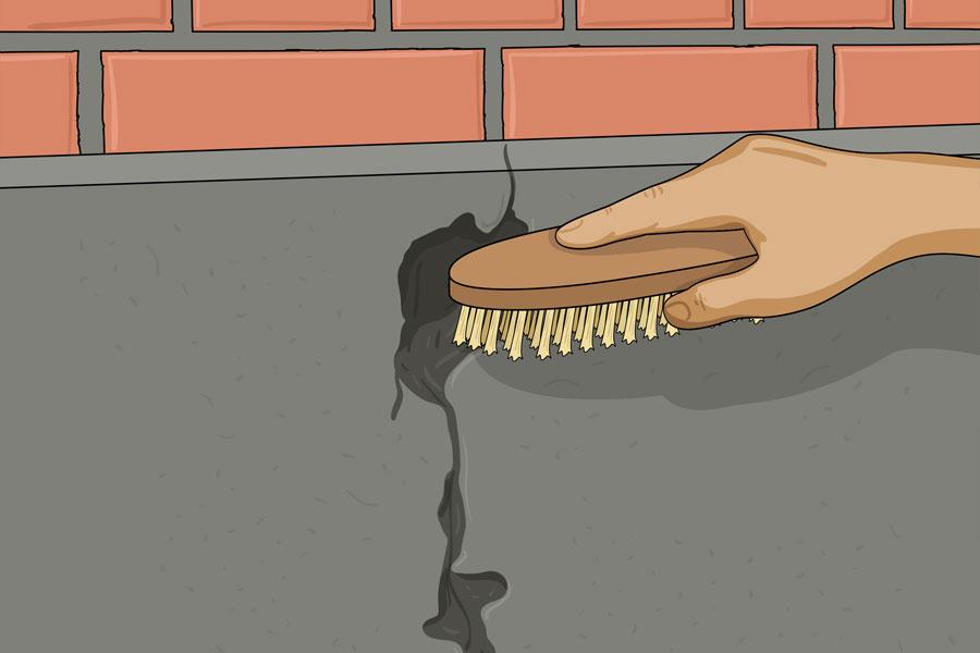 Laga sprickor i husgrund steg 3