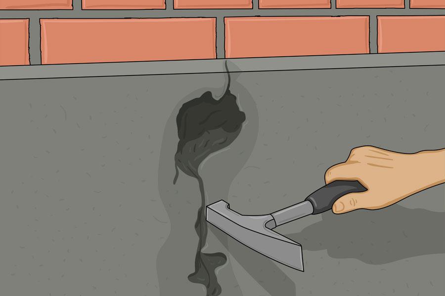 Laga sprickor i husgrund steg 5