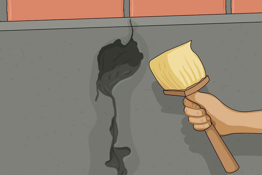 Laga sprickor i husgrund steg 6