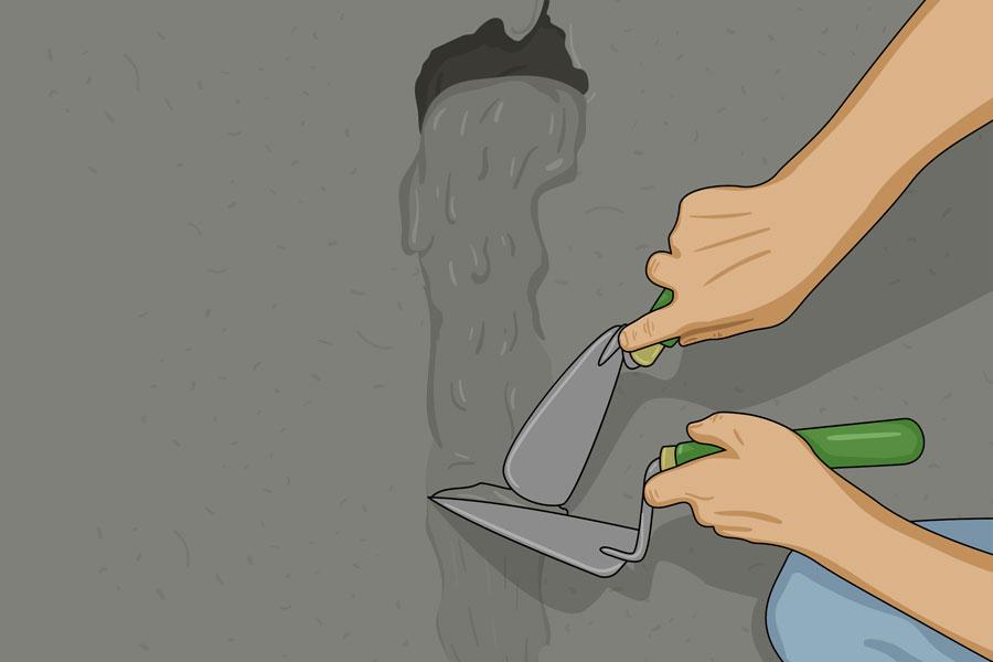 Laga sprickor i husgrund steg 8