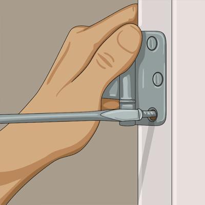Lösa gångjärnsskruvar kan vara orsak till kärvande dörrar
