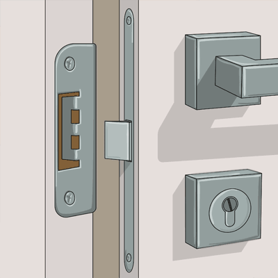 Låset kan vara orsak till att dörren kärvar