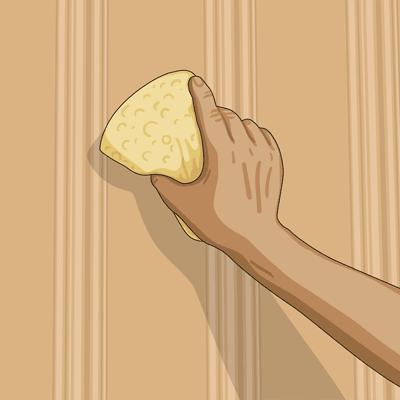 Fördriv lasyren och arbeta i träets längdriktning
