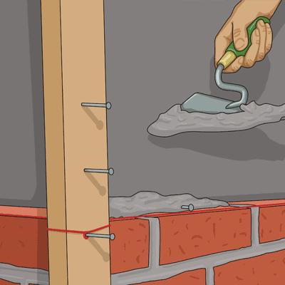 Lägger bruk över liggyta och spik och murar som vanligt