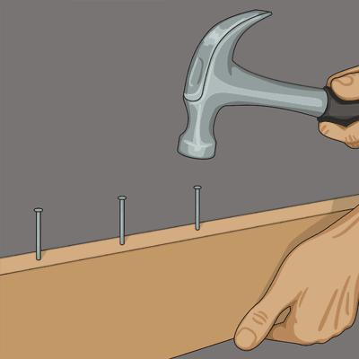 Markera tegelskiften med spik och riktsnöre