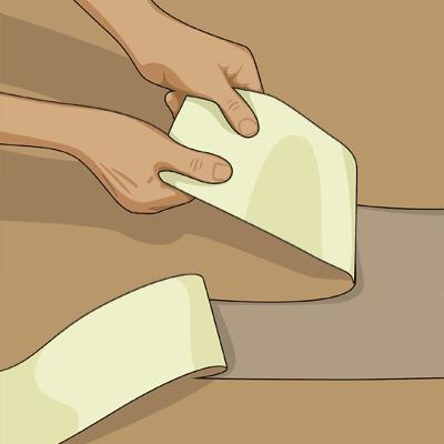 Dra loss mattremsorna för hand.