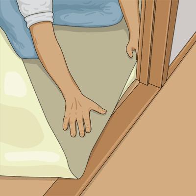 Plastmatta vid dörrfoder och trösklar
