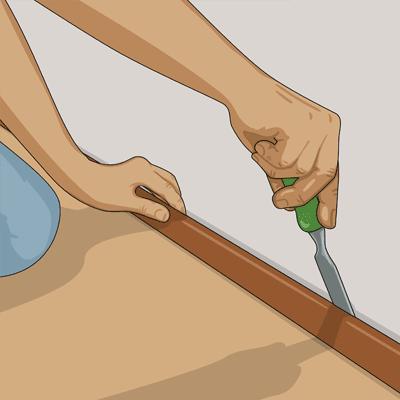 Tar bort golvlister för bästa resultat