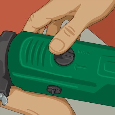 Använd borrmaskin med slagborrfunktion när du ska borra i en tegelvägg